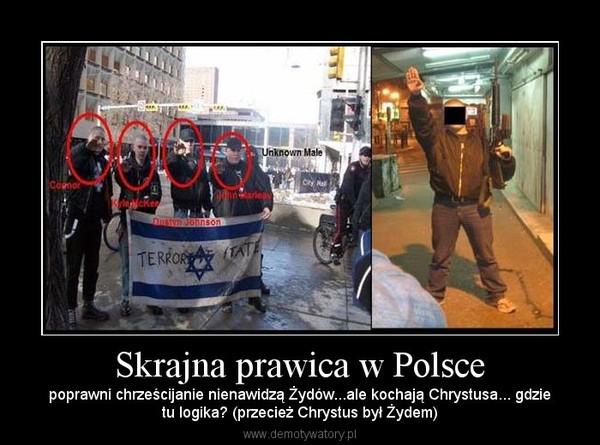 Skrajna prawica w Polsce – poprawni chrześcijanie nienawidzą Żydów...ale kochają Chrystusa... gdzietu logika? (przecież Chrystus był Żydem)