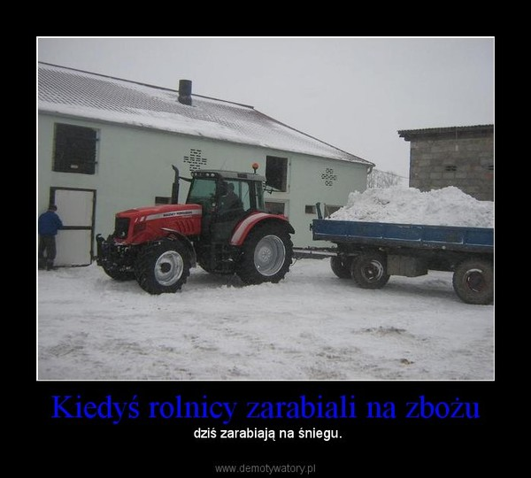 Kiedyś rolnicy zarabiali na zbożu –  dziś zarabiają na śniegu.