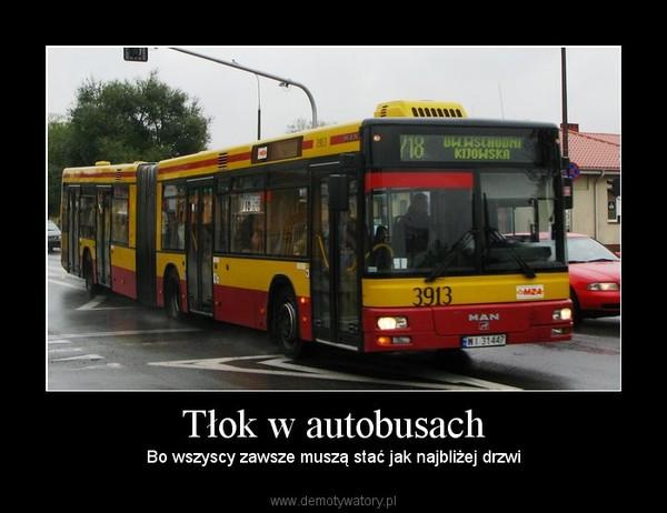 Tłok w autobusach –  Bo wszyscy zawsze muszą stać jak najbliżej drzwi