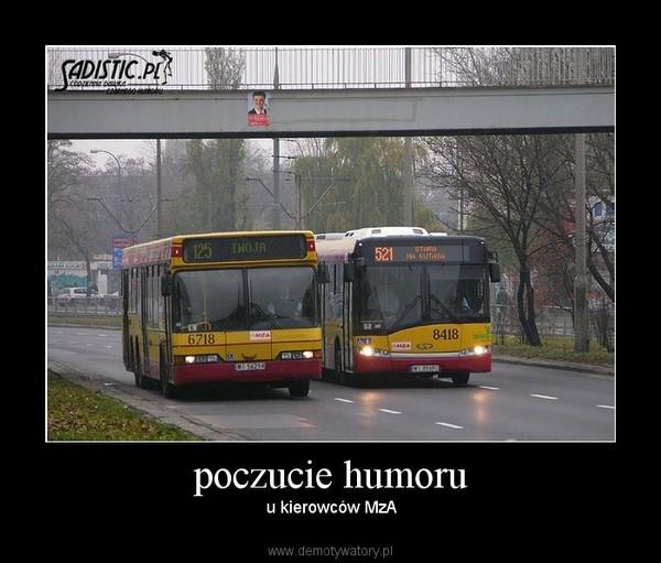 poczucie humoru –  u kierowców MzA