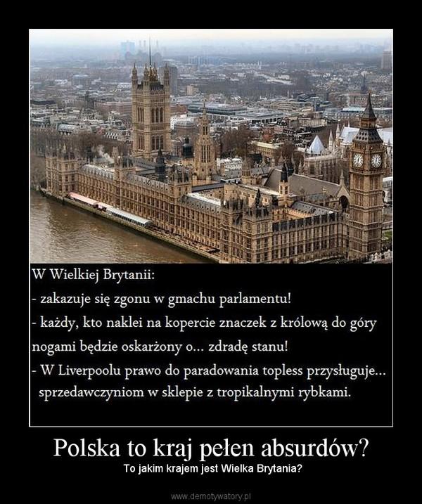 Polska to kraj pełen absurdów? –  To jakim krajem jest Wielka Brytania?