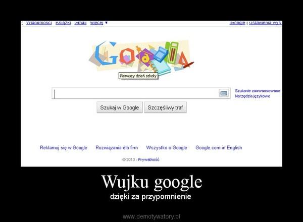 Wujku google – dzięki za przypomnienie