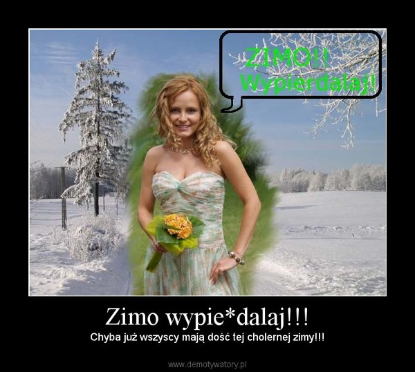 Zimo wypie*dalaj!!! – Chyba już wszyscy mają dość tej cholernej zimy!!!