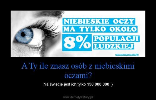 A Ty ile znasz osób z niebieskimi oczami?