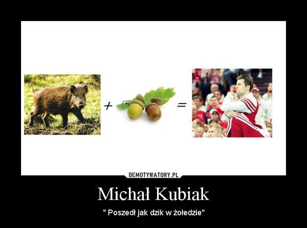 """Michał Kubiak – """" Poszedł jak dzik w żołedzie"""""""