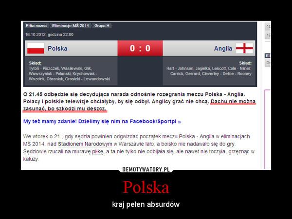 Polska – kraj pełen absurdów