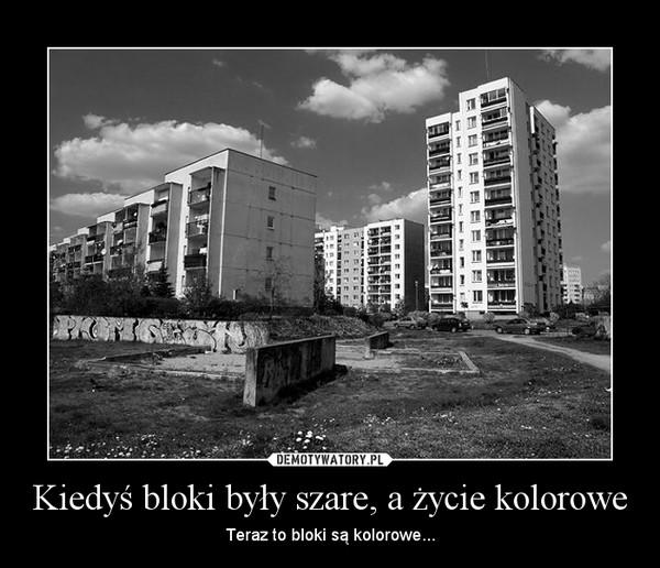 Kiedyś bloki były szare, a życie kolorowe – Teraz to bloki są kolorowe...