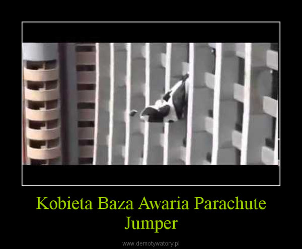 Kobieta Baza Awaria Parachute Jumper –