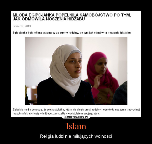 Islam – Religia ludzi nie miłujących wolności