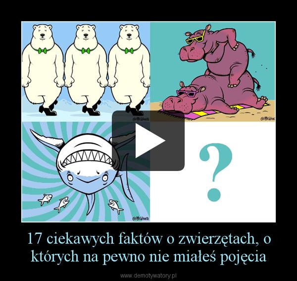 17 ciekawych faktów o zwierzętach, o których na pewno nie miałeś pojęcia –