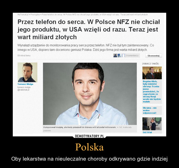 Polska – Oby lekarstwa na nieuleczalne choroby odkrywano gdzie indziej