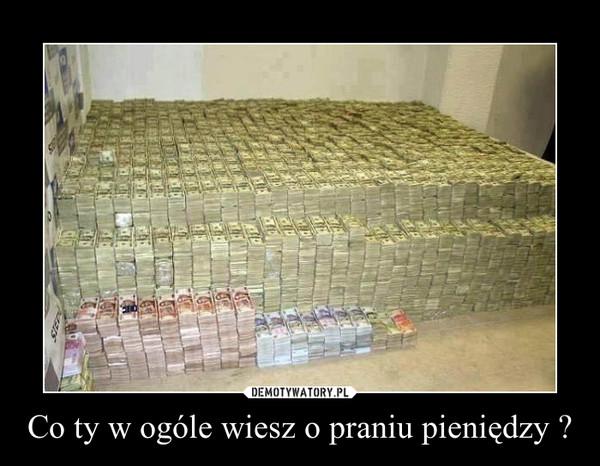 Co ty w ogóle wiesz o praniu pieniędzy ? –