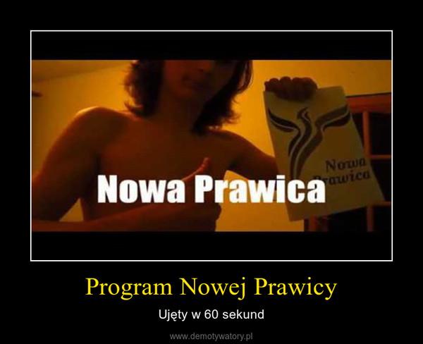 Program Nowej Prawicy – Ujęty w 60 sekund