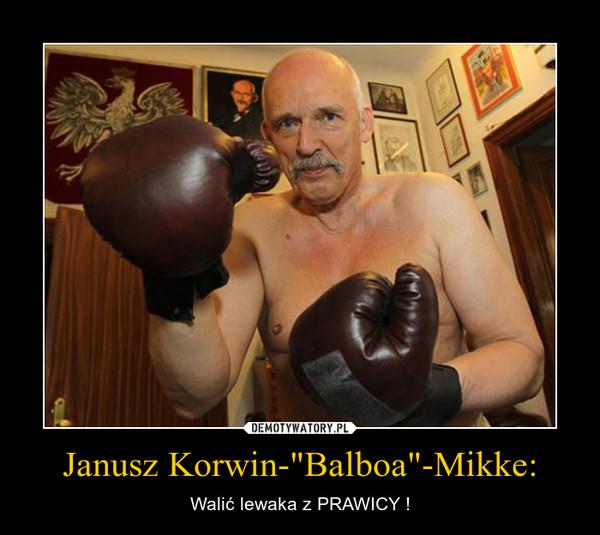 """Janusz Korwin-""""Balboa""""-Mikke: – Walić lewaka z PRAWICY !"""