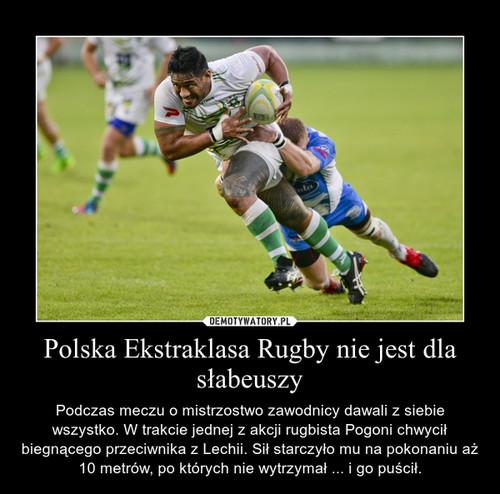 Polska Ekstraklasa Rugby nie jest dla słabeuszy