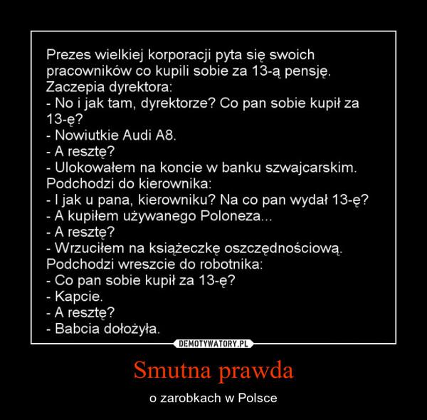 Smutna prawda – o zarobkach w Polsce