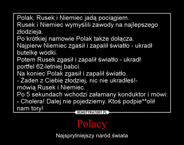 Polacy – Najsprytniejszy naród świata