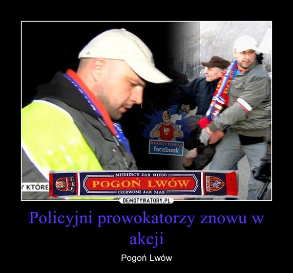 Policyjni prowokatorzy znowu w akcji – Pogoń Lwów