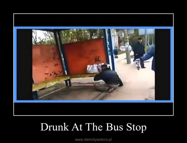 Drunk At The Bus Stop –