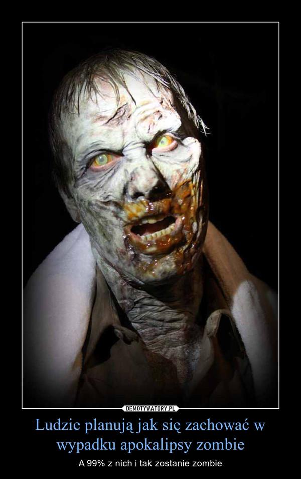 Ludzie planują jak się zachować w wypadku apokalipsy zombie – A 99% z nich i tak zostanie zombie