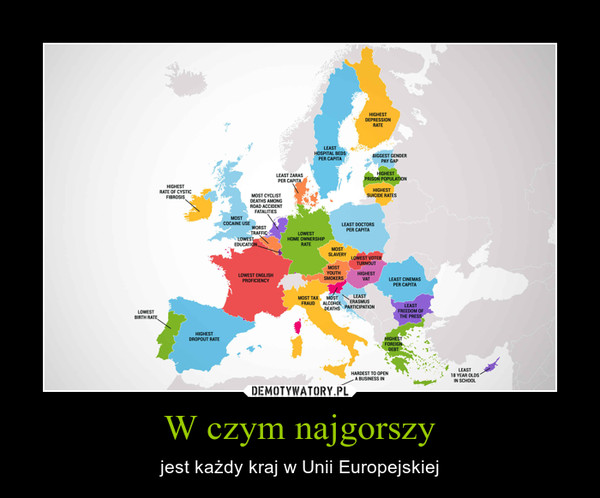 W czym najgorszy – jest każdy kraj w Unii Europejskiej