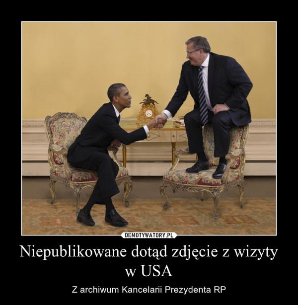 Niepublikowane dotąd zdjęcie z wizyty w USA – Z archiwum Kancelarii Prezydenta RP