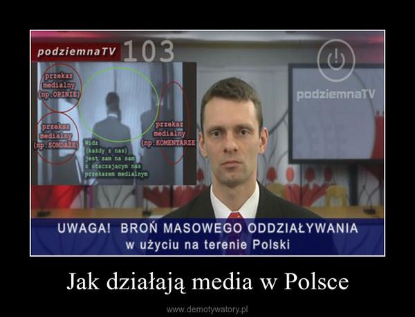 Jak działają media w Polsce –