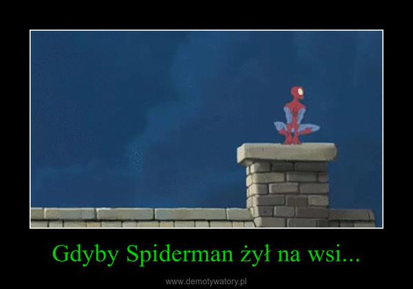 Gdyby Spiderman żył na wsi... –