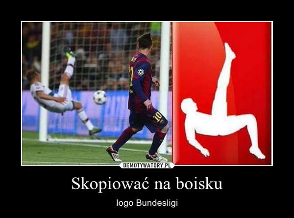 Skopiować na boisku – logo Bundesligi