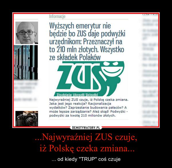 ...Najwyraźniej ZUS czuje, iż Polskę czeka zmiana... – ... od kiedy ''TRUP'' coś czuje
