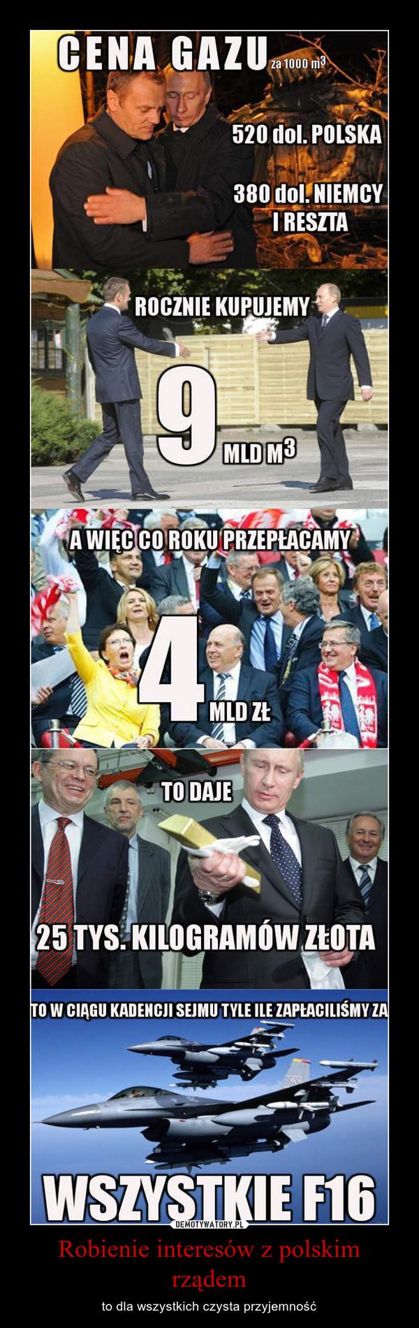 Robienie interesów z polskim rządem – to dla wszystkich czysta przyjemność