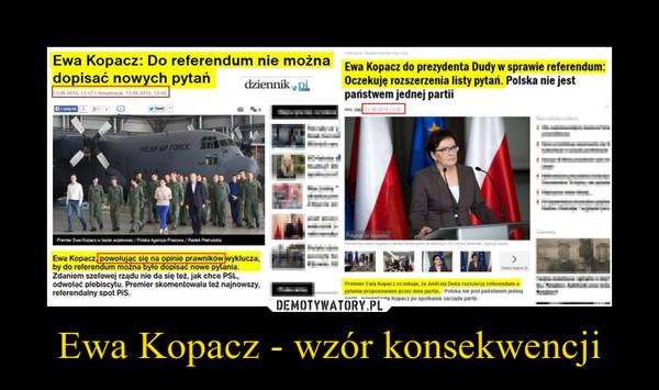 Ewa Kopacz - wzór konsekwencji –