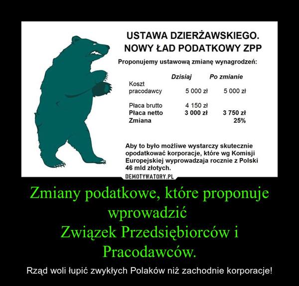 Zmiany podatkowe, które proponuje wprowadzić Związek Przedsiębiorców i Pracodawców. – Rząd woli łupić zwykłych Polaków niż zachodnie korporacje!