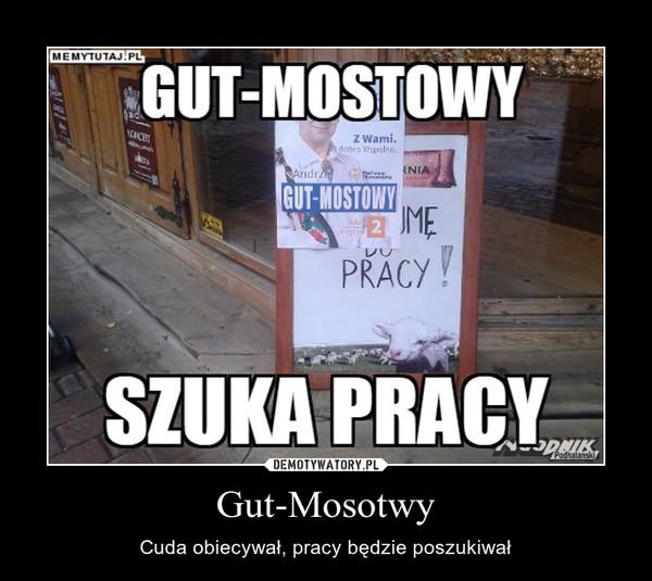 Gut-Mosotwy – Cuda obiecywał, pracy będzie poszukiwał