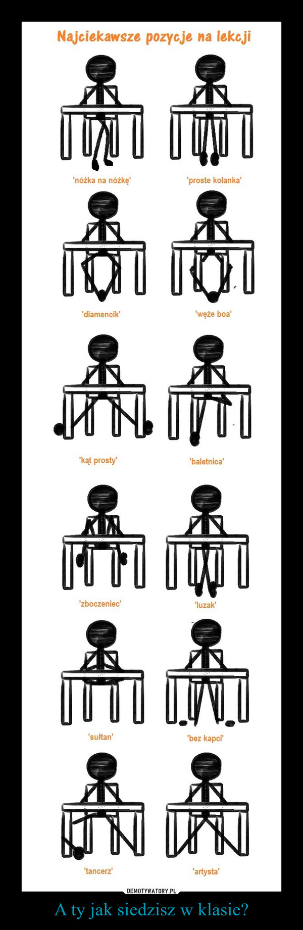 A ty jak siedzisz w klasie? –