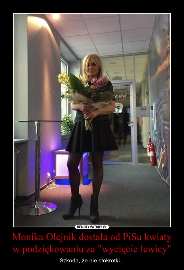 """Monika Olejnik dostała od PiSu kwiaty w podziękowaniu za """"wycięcie lewicy"""" – Szkoda, że nie stokrotki..."""