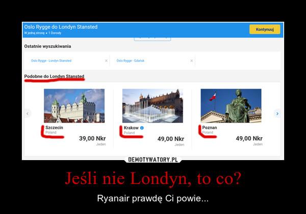 Jeśli nie Londyn, to co? – Ryanair prawdę Ci powie...