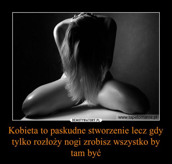 Kobieta to paskudne stworzenie lecz gdy tylko rozłoży nogi zrobisz wszystko by tam być –