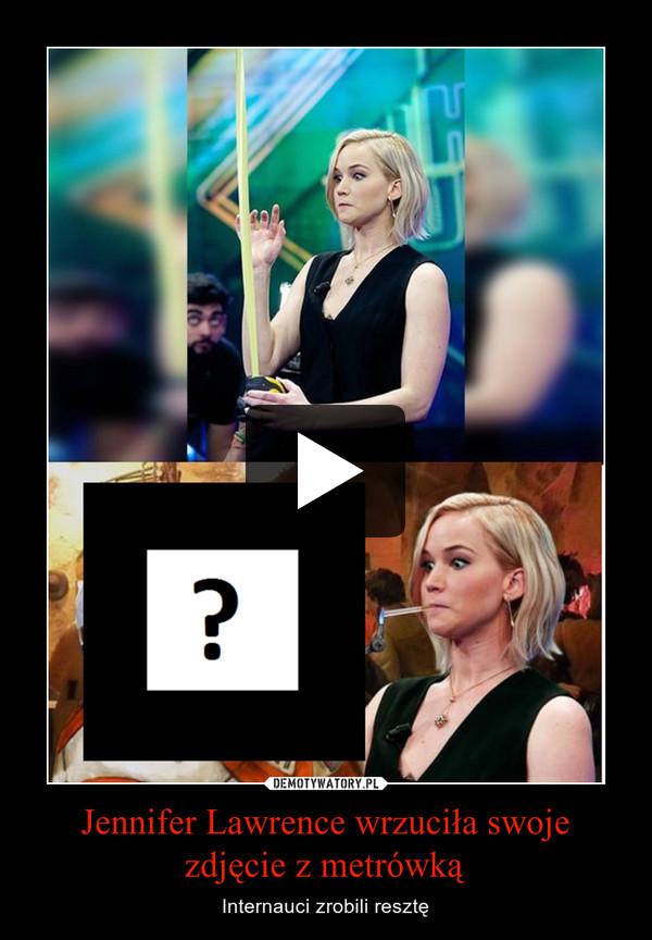 Jennifer Lawrence wrzuciła swoje zdjęcie z metrówką – Internauci zrobili resztę