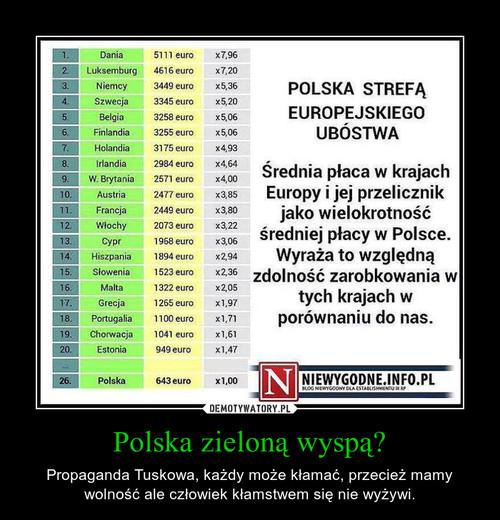 Polska zieloną wyspą?