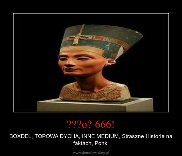 ǝɹɹoɹ 666! – BOXDEL, TOPOWA DYCHA, INNE MEDIUM, Straszne Historie na faktach, Ponki