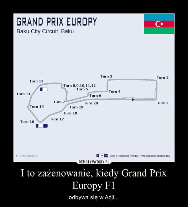 I to zażenowanie, kiedy Grand Prix Europy F1 – odbywa się w Azji...