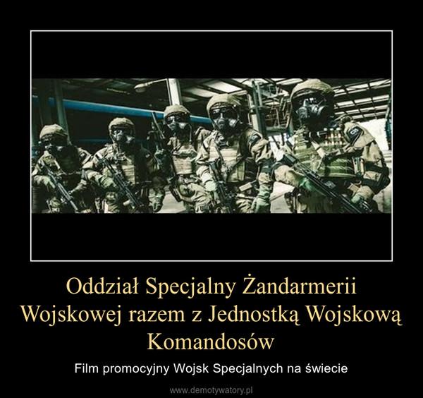 Oddział Specjalny Żandarmerii Wojskowej razem z Jednostką Wojskową Komandosów – Film promocyjny Wojsk Specjalnych na świecie