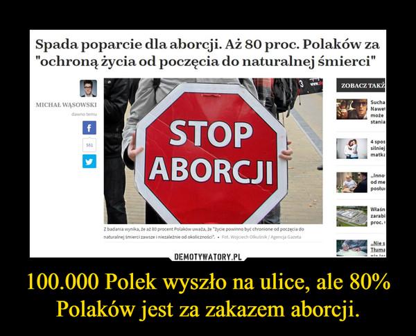100.000 Polek wyszło na ulice, ale 80% Polaków jest za zakazem aborcji. –
