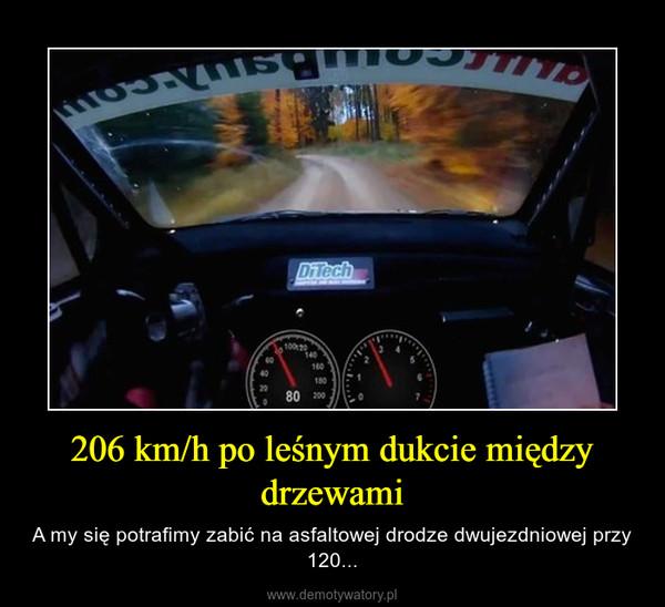 206 km/h po leśnym dukcie między drzewami – A my się potrafimy zabić na asfaltowej drodze dwujezdniowej przy 120...