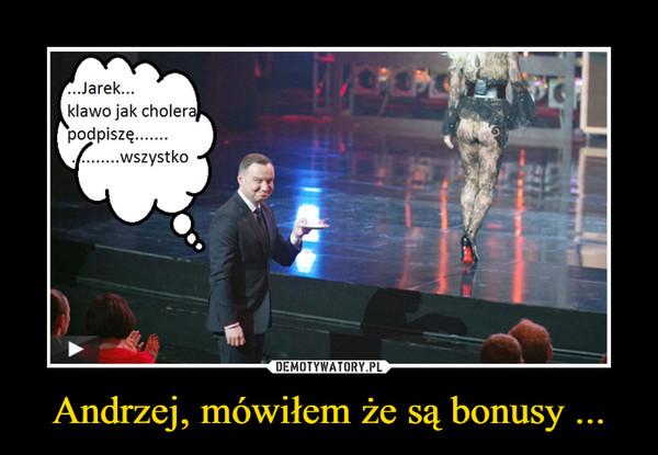 Andrzej, mówiłem że są bonusy ... –