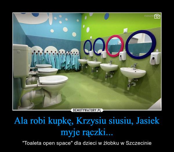 """Ala robi kupkę, Krzysiu siusiu, Jasiek myje rączki... – """"Toaleta open space"""" dla dzieci w żłobku w Szczecinie"""