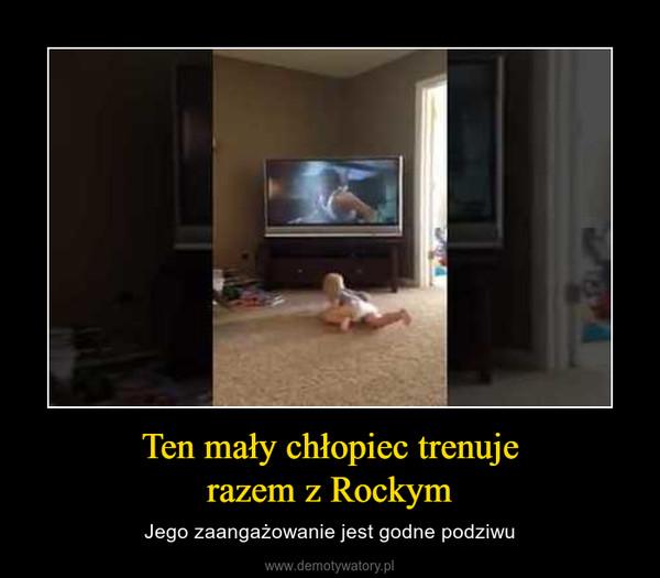 Ten mały chłopiec trenujerazem z Rockym – Jego zaangażowanie jest godne podziwu
