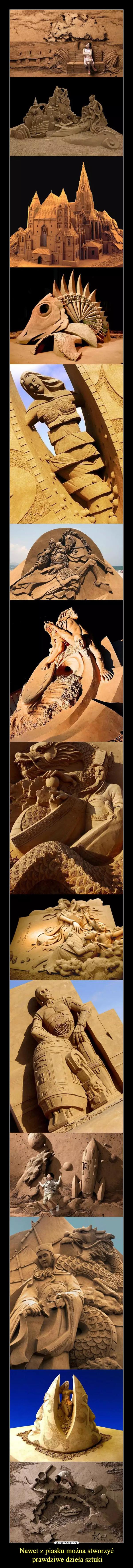 Nawet z piasku można stworzyć prawdziwe dzieła sztuki –