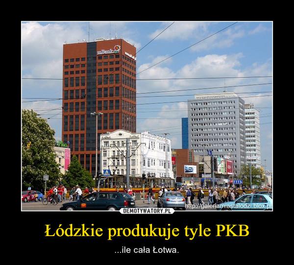 Łódzkie produkuje tyle PKB – ...ile cała Łotwa.